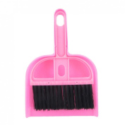 Gino Pink Black Plastic Computer Car Window Fans Cleaning Brush Dustpan Set