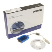 GearMo® Windows 7 Compatible USB Serial Adapter FTDI Chip RS232 DB-9 920K with TX/RX LED