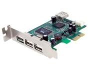 StarTech.com 4 Port PCI Express Low Profile High Speed USB Card