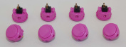 8 pc Set of Violet Sanwa Push Buttons OBSF-30-VI