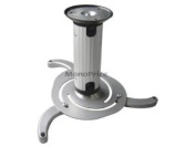 Monoprice Ceiling Bracket for Projectors (Max 10kg) - Silver