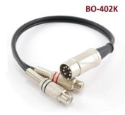 CablesOnline 0.3m 7-Pin Din Male to 2-RCA Female Audio Cable for Bang & Olufsen, Naim, Quad...Stereo Systems