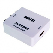 Generic Mini AV2HDMI AV CVBS Composite to HDMI 720p 1080p Upscaling Video Converter Adapter Colour White
