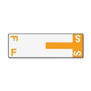 Smead 67157 - Alpha-Z Colour-Coded First Letter Name Labels, F & S, Orange, 100/Pack-SMD67157