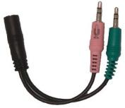 Headset Buddy Adapter 01-PH25-PC35 Phone Headset to PC Adapter