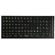 Glowing fluorescent English US keyboard sticker