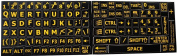 ENGLISH US LARGE PRINT LETTERING BLACK-YELLOW KEYBOARD STICKERS EXTRA BOLD