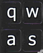English Us Large Letter (lower case) keyboard stickers non transparent Black background for all pc desktop computer laptop