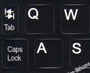 Netbook English US keyboard stickers Black background for mini laptops computer