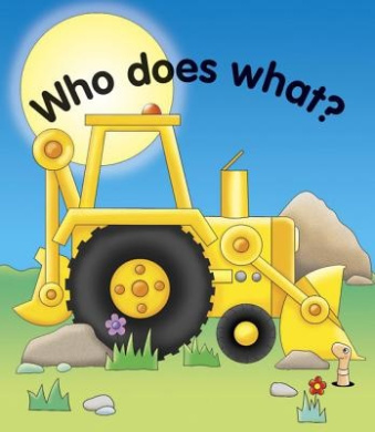 Pull the lever: Who does what? [Board book]