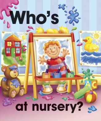 Pull the lever: Who's at nursery? [Board book]