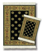 Lextra® (Country Heritage Stars), MouseRug® & CoasterRug® Set, black and gold, 26cm x 18cm , one MouseRug and one matching CoasterRug