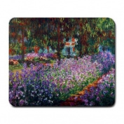 Monet's Garden in Giverny By Claude Monet Mouse Pad