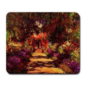 Path in Monets Garden in Giverny By Claude Monet Mouse Pad