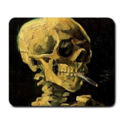 Skull with Burning Cigarette By Vincent Van Gogh Mouse Pad