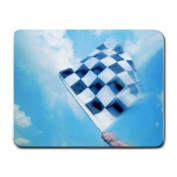 Race Car Checked Flag Mouse Pad