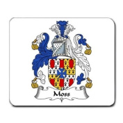 Moss Family Crest Coat of Arms Mouse Pad