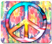 Psychedelic Peace Custom Mouse Pad from Redeye Laserworks