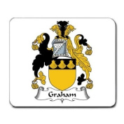 Graham Family Crest Coat of Arms Mouse Pad