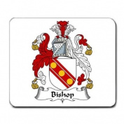 Bishop Family Crest Coat of Arms Mouse Pad