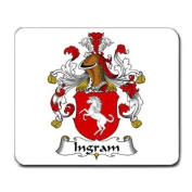 Ingram Family Crest Coat of Arms Mouse Pad