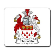 Thorndike Family Crest Coat of Arms Mouse Pad