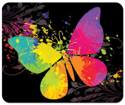 Painted Butterfly Mouse Pad from Redeye Laserworks