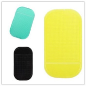 HPP Magic Anti-slip Dashboard Adhesive Mat/ Sticky Pad for Cell Phone, Cd, Electronic Devices, Washable- Yellow+Black+Green Colour Set of 3