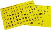 Braille and Large Print Combined Keyboard Stickers - Yellow Keys With Black Characters - Perfect for Visually Impaired Individuals, Low Vision, or Low Light for Seniors and People with Bad Vision!