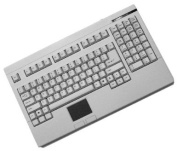 Adesso Rackmount White PS/2 Keyboard with Glidepoint Touchpad