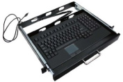 Adesso 48cm , 1U Rackmount Keyboard Drawer with Built-in Touchpad USB Keyboard