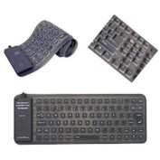Adesso Flexible Mini Waterproof Keyboard - USB and PS/2