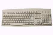 Chinese Keyboard Ivory with Black Print USB PS2