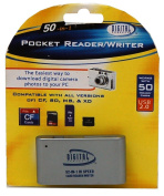 Sakar 50-in-1 Pocket Reader/Writer Compatible w/ all SD, CF, MS, and XD Cards