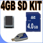 4GB SD / HC Secure Digital Memory Card + USB SD Card Reader for Creative ZEN/Other SD Compatible MP3 Players - Accessory Saver Bundle by BigVALUEInc!