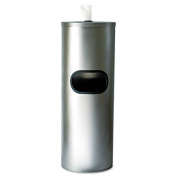 Stainless Stand Waste Receptacle, Cylindrical, 5gal, Stainless Steel