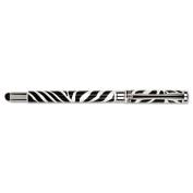 Stylus/Pen Combination, 1.0mm, Capped, Zebra Print