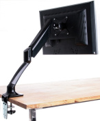 Single LCD Monitor Desktop Mount / Stand, Black Deluxe with Gas Spring for 1 Screen up to 60cm , Model STAND-V001B by VIVO