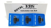 Royal Calculator Black and Red Ink Roll Replaces Adler-Royal OEM Ink Roll ***FRESH PACKAGE OF THREE(3) Ink Rolls