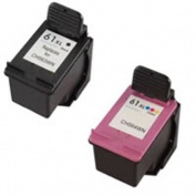 Amsahr 61XLBK(CH563WN) Remanufactured Replacement HP Ink Cartridges for Select Printers/Faxes with 1 Black and 1 Colour Ink Cartridges