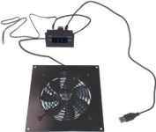 Single 120mm USB Fan with Bracket and Prorgammable Thermal Control / Display