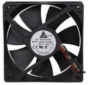 Delta Electronics AFC1212D 120x120x25mm Cooling Fan, 3400 RPM, 113.11 CFM, 46.5 dBA, 4-pin PWM connector