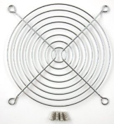 120mm Chrome Fan Grill with 4 Mounting Screws Included