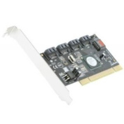 SYBA SY-PCI40010 4-port SATA II PCI Controller Card with Software RAID