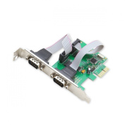 Syba Dual DB9 Serial Ports PCI-Express x1 Card with Low Profile Bracket SI-PEX15037