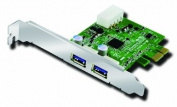 AcomData SuperSpeed USB 3.0 PCI Express Card 2 Port ADPU3-PCIX