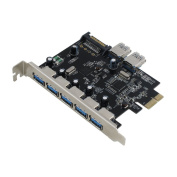 Sedna - PCI Express USB 3.0 7 Port Adapter (Support Win 8 Uasp, Super Fast Speed), SATA Power connector