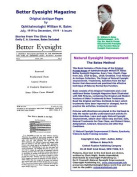 Better Eyesight Magazine - Original Antique Pages by Ophthalmologist William H. Bates - July, 1919 to December, 1919 - 6 Issues