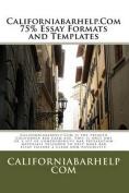 Californiabarhelp.com 75% Essay Formats and Templates