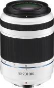 Samsung - NX 50-200mm F4-5.6 ED OIS II Telephoto Zoom Lens for Samsung NX Digital Cameras - White